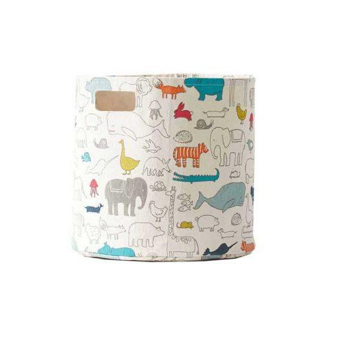 Spielzeugkorb Arche Noah aus Baumwoll-Canvas Midi