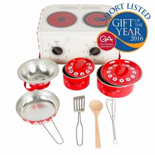 Kochbox Red Daisies von Sass & Belle mit Zubehör für Kinder ab 3 Jahren
