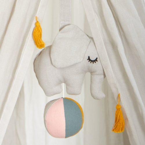 Roommate Spieluhr Elefant hellgrau