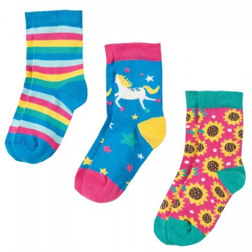 Frugi 3 Paar Socken Einhorn