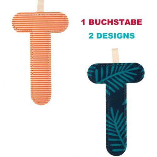 Lilliputiens Stoff-Buchstabe T** in 2 Designs, zum wenden