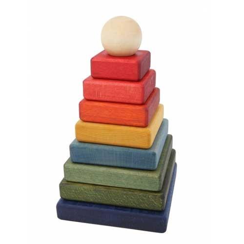 Wooden Story Steckspiel Regenbogen Pyramide 10teiliges Holzspielzeug