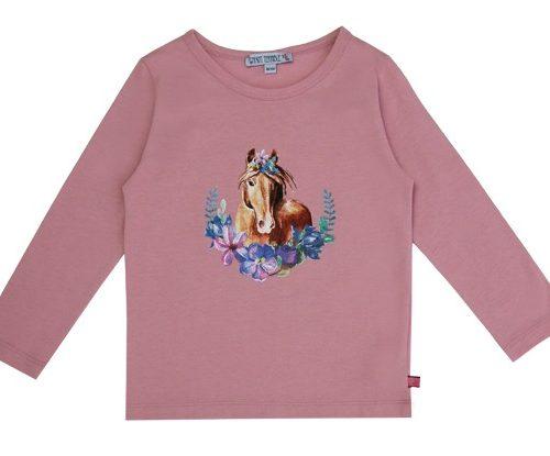 Enfant Terrible Langarm-Shirt mit Pferdedruck in rosè