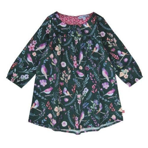 Enfant Terrible Webkleid Blumen in tanne-soft pink