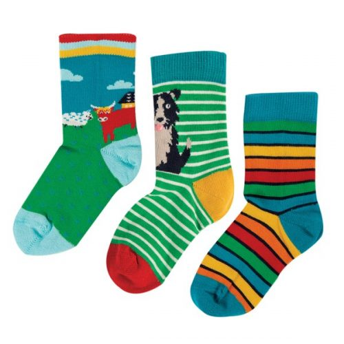 Frugi 3 Paar Socken Hochlandrind