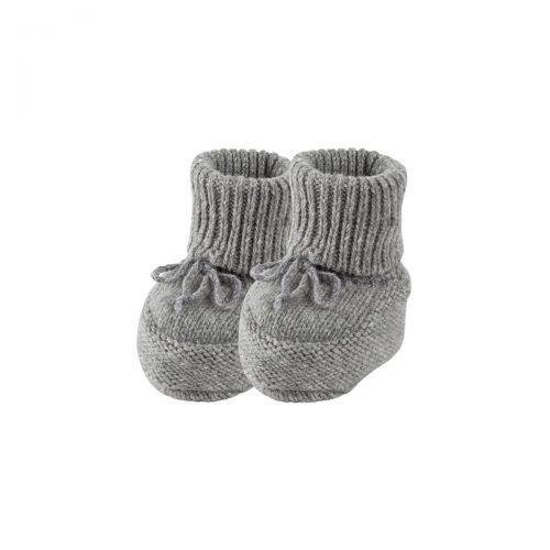 Baby-Stiefel Alpaka in grau-melange von pure-pure by Bauer