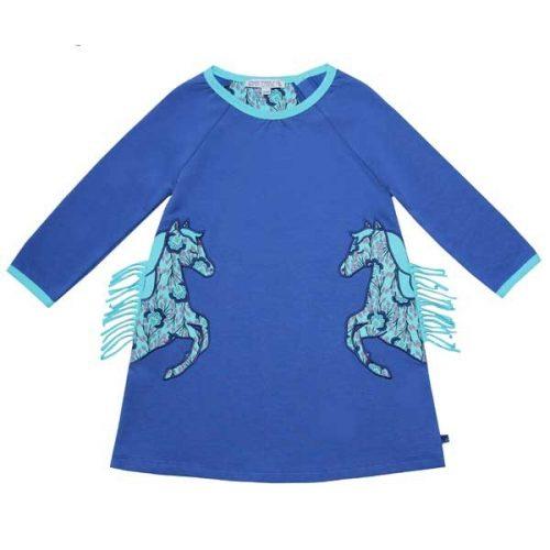 Enfant Terrible Sweatkleid Pferdeapplikation in royal