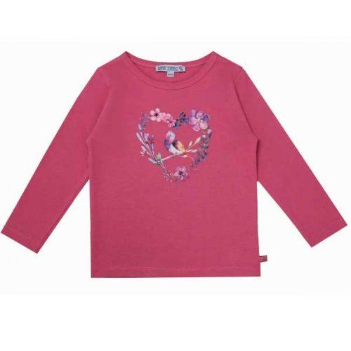 Enfant Terrible Langarm-Shirt mit Herzdruck in soft-pink