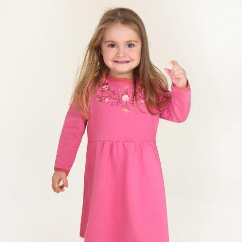 Enfant Terrible Sweatkleid Blumenranke Stickerei in soft pink