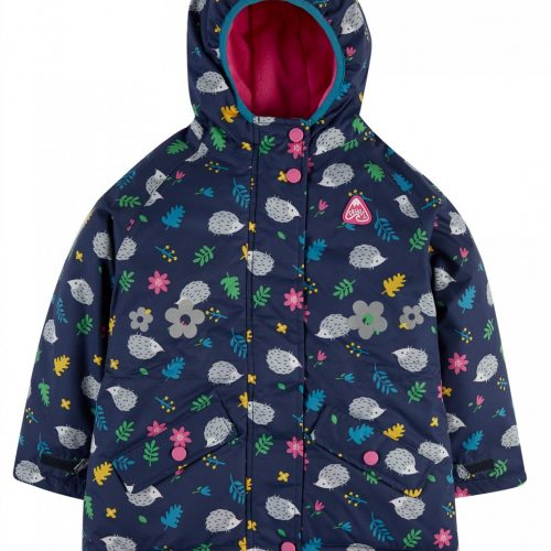 Explorer Waterproof Coat Igel von Frugi - wasserdichte Jacke