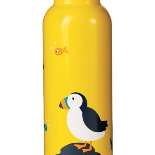 Trinkflasche Buddy Papageienvogel von Frugi (Puffin) aus Edelstahl