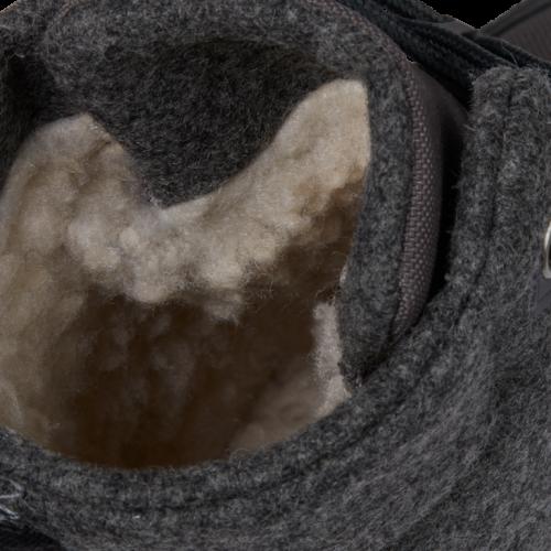 Affenzahn Kinder-Winterstiefel Hund in dunkelgrau