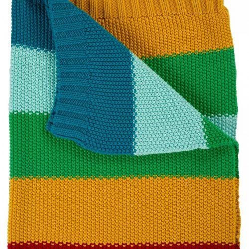 Frugi Kuscheldecke im Streifen-Design aus Bio-Baumollstrick