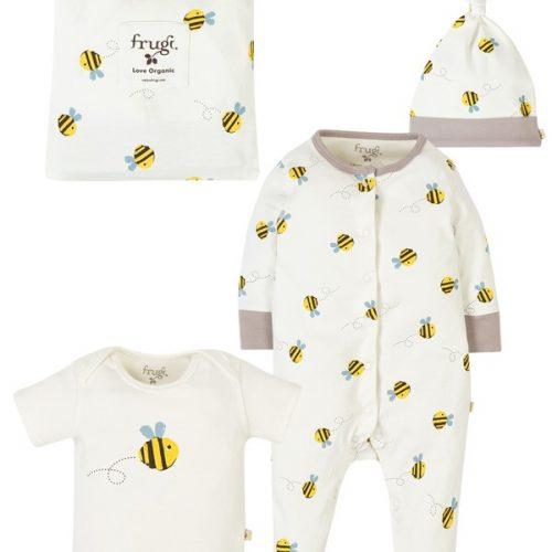 Frugi Baby-Geschenkset Buzzy Bee aus Bio-Baumwolle