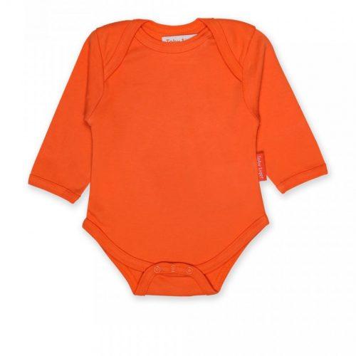 Toby Tiger Langarm-Body orange aus Bio-Baumwolle