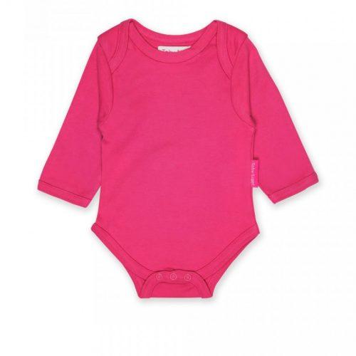 Toby Tiger Langarm-Body pink aus Bio-Baumwolle