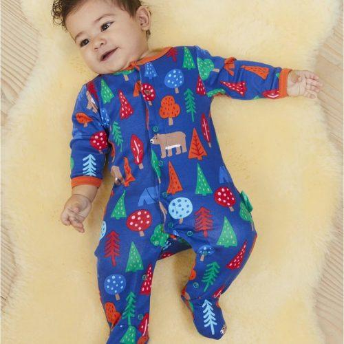 Toby Tiger Baby-Strampler Bär aus Bio-Baumwolle