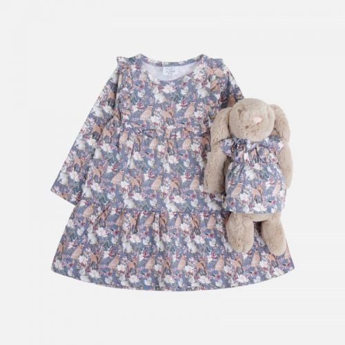 Kleid Danina in blau GOTS von Hust & Claire