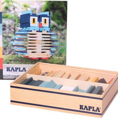Kapla® Baukasten Eule mit 120 Holzplättchen ab 3 Jahren