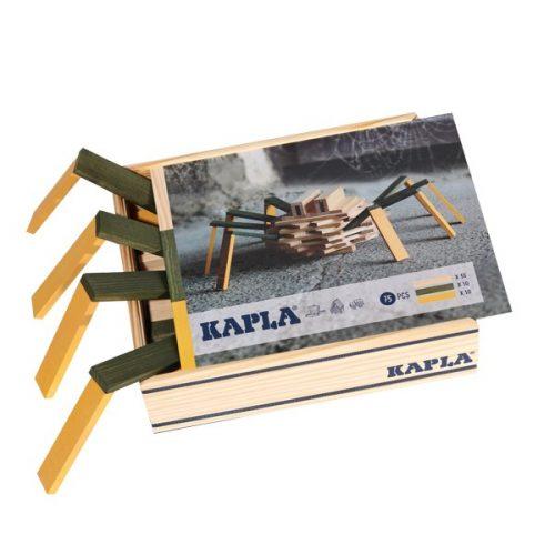 Kapla® Baukasten Spinne mit 100 Holzplättchen ab 3 Jahren