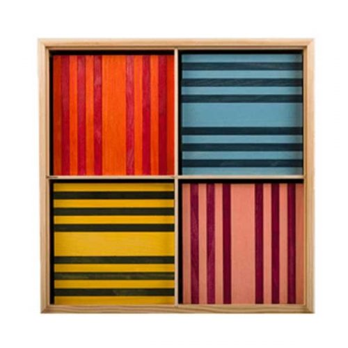 Kapla® Box Octocolor mit 100 Holzplättchen in 8 Farben ab 3 Jahren