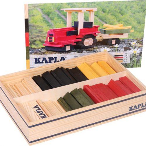 Kapla® Baukasten Traktor mit 155 Holzplättchen ab 3 Jahren