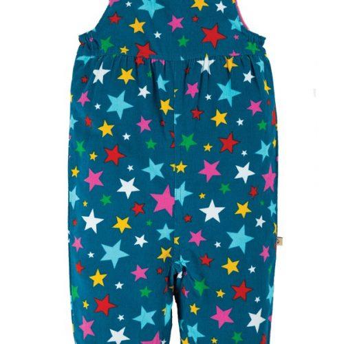 Frugi Cord-Latzhose Rainbow Stars aus Bio 100% Baumwolle