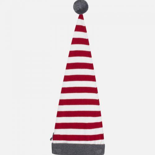 Zwergen-Mütze rot-weiß geringelt von Hust & Claire