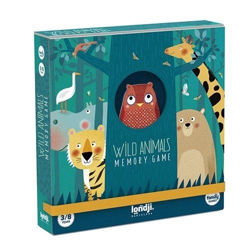 Londji Memo: Wildtiere ab 3 Jahre 32-teilig in einer sehr schönen Box