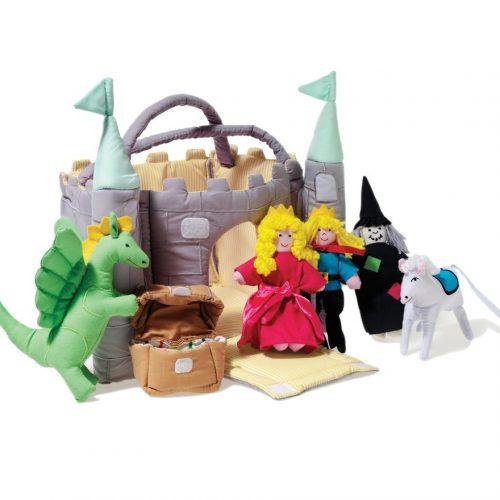 Oskar und Ellen - Rollenspiel Schloss mit grünen Türmen
