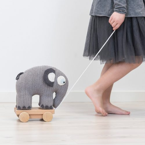 Sebra Nachziehtier Elefant grau - ab 12 Monate geeignet