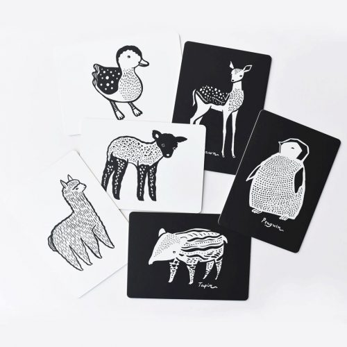 Wee Gallery Kontrastkarten Tierbabys Black & White