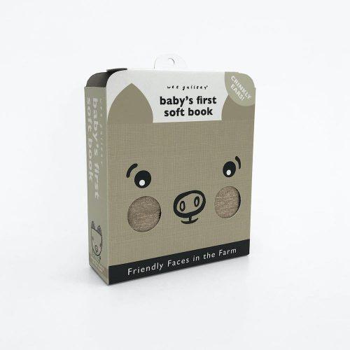Wee Gallery Soft Book Nette Gesichter - Bauernhof mit Knistergräuschen