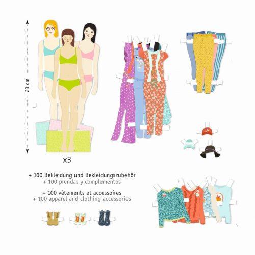Djeco Puppen anziehen: Der grosse Kleiderschrank