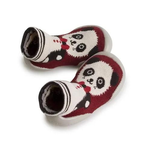 Collegien Hausschuhe Panda in rot (Qicheng) - bequem und atmungsaktiv