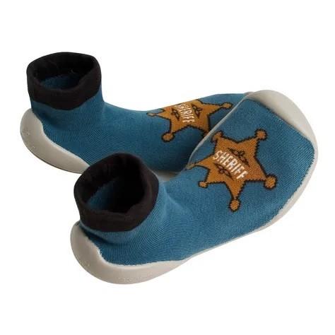 Collegien Hausschuhe Sheriff in blau - bequem und atmungsaktiv