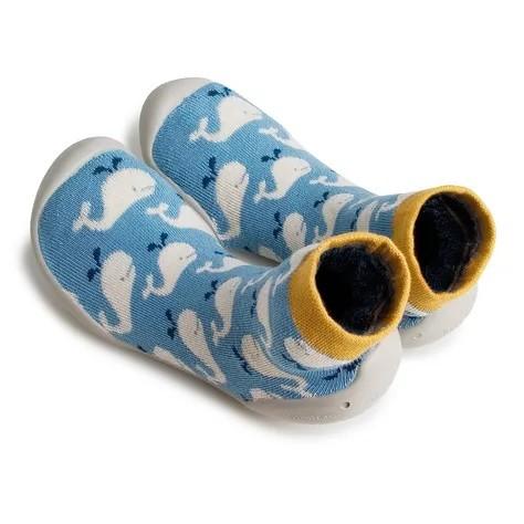 Collegien Hausschuhe Wal Willy in blau - bequem und atmungsaktiv