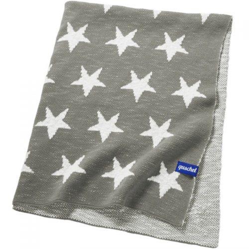 Quschel Babydecke Sterne in grau-weiss 80 x 100 cm