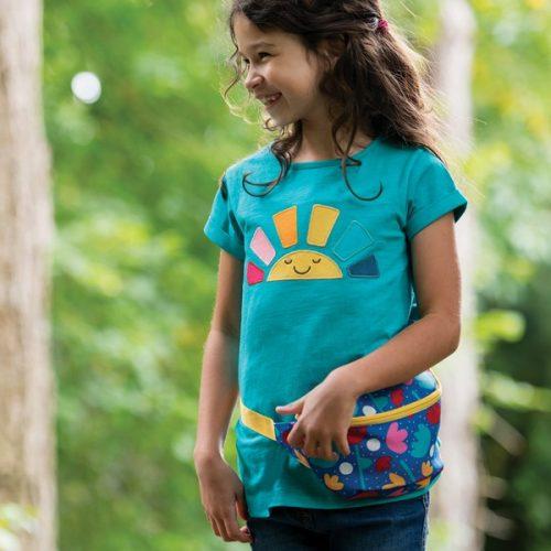 Frugi Bertie Bauchtasche Lotusblüte für Kinder ab 3 Jahren