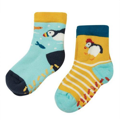 Frugi 2 Paar Stopper-Socken Papageientaucher