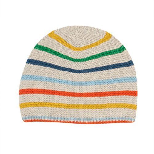 Frugi Mütze Harlen aus 100% Bio Baumwolle mit Regenbogen-Design