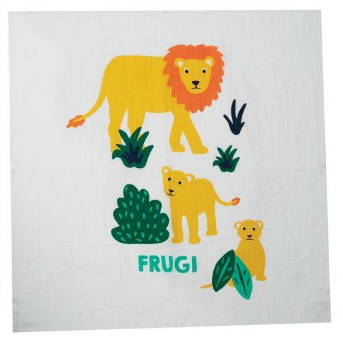 Frugi Mulltuch-Set Big Cat (Grosskatzen) 100% Bio-Baumwolle GOTS