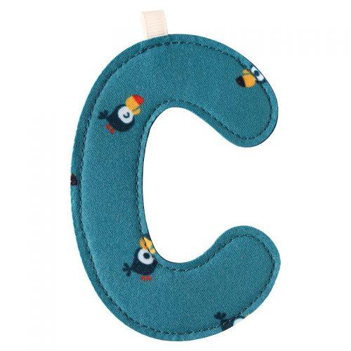 Lilliputiens Stoff-Buchstabe C (Tukan) - Kinderzimmerdekoration