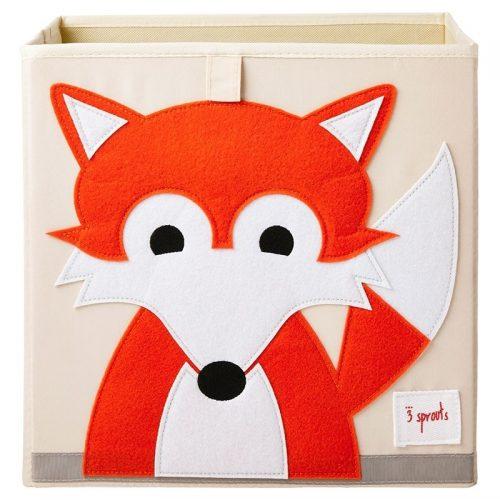 3 sprouts Aufbewahrungsbox Fuchs, Spielzeugkiste