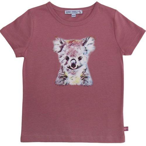Enfant Terrible Kurzarm-Shirt Koala altrosa, bedruckt , GOTS