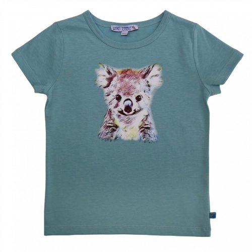 Enfant Terrible Kurzarm-Shirt Koala jade, bedruckt , GOTS