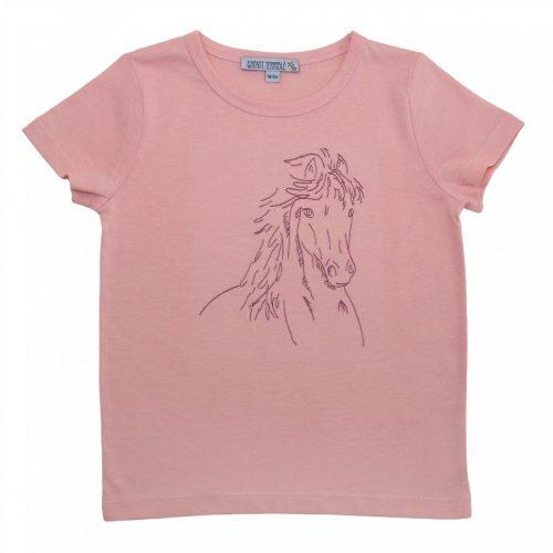 Kurzarm-Shirt Pferd hellrosé von Entant Terrible, GOTS