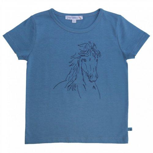 Kurzarm-Shirt Pferd petrol von Enfant Terrible , GOTS