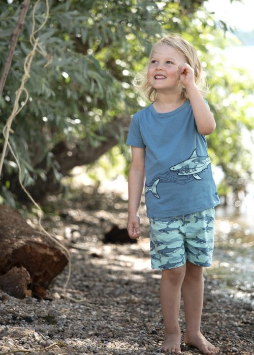 EnfantTerrible Shorts Haie blauaus 100% Bio Baumwolle