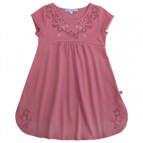 Jersey Kleid mit Stickerei in malve von Enfant Terrible, aus Bio-Baumwolle